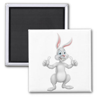 Cartoon Easter Bunny Rabbit Giving Thumbs Up Magnet