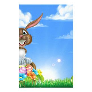 Cartoon Easter Egg Hunt Bunny Stationery