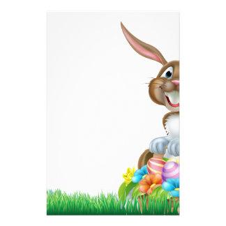 Cartoon Easter Egg Hunt Rabbit Stationery