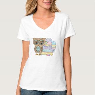 Cartoon Easter Owl womens t-shirt