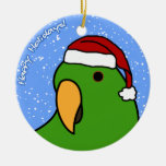 Cartoon Eclectus Christmas Ornament
