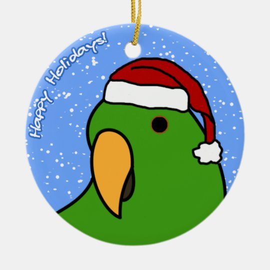 Cartoon Eclectus Christmas Ornament | Zazzle.com