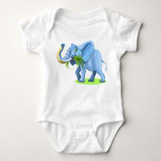 Cartoon Elephant Baby Bodysuit
