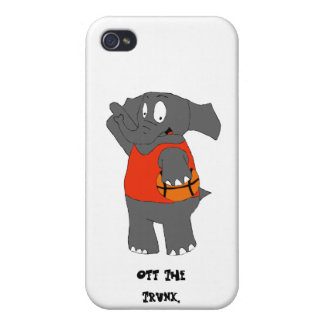 Cartoon Elephant Basketball Player Covers For iPhone 4