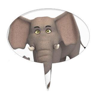 Cartoon Elephant Cake Toppers