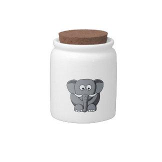 Cartoon Elephant Candy Jar