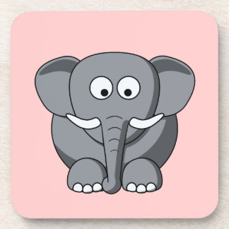 Cartoon Elephant Cork Coaster