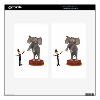 Cartoon Elephant Decal For Kindle Fire