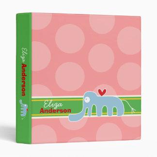 Cartoon Elephant Fun Kids Custom Binder