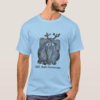 Cartoon Elephant Funny Tee Shirt