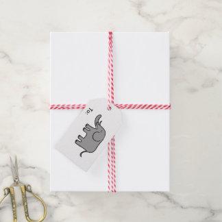 cartoon elephant gift tags