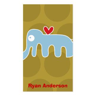 Cartoon Elephant Kid Fun Custom Photo Profile Card