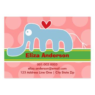 Cartoon Elephant Kid Photo Profile / Name Card