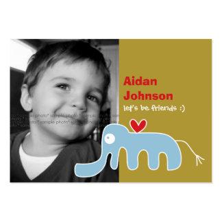 Cartoon Elephant Kids Custom Photo Playdate Card