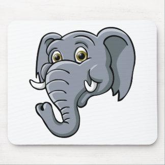 Cartoon Elephant Mouse Pad