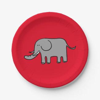 cartoon elephant paper plate