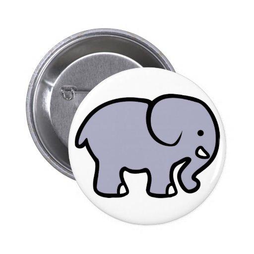 Cartoon Elephant Pinback Button