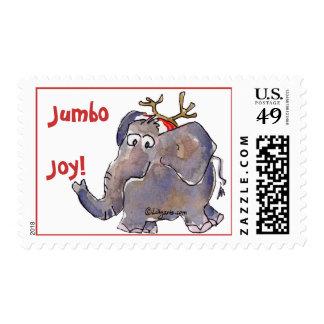 Cartoon Elephant Postage Stamp