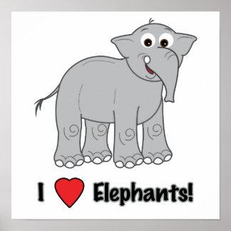 Cartoon Elephant Posters