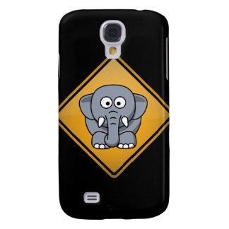 Cartoon Elephant Warning Sign Samsung Galaxy S4 Cover