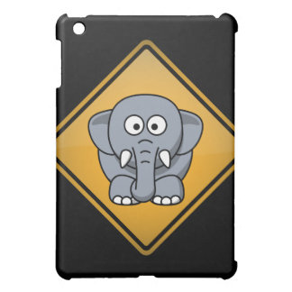Cartoon Elephant Warning Sign iPad Mini Cases