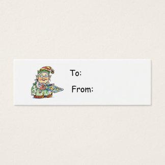 Cartoon Elf Gift Tag