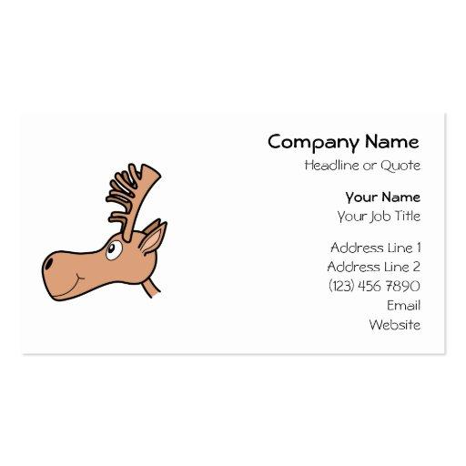 Cartoon Elk Moose. Double-Sided Standard Business Cards (Pack Of 100)