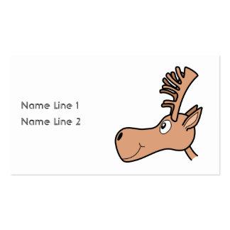 Cartoon Elk Moose. Business Card