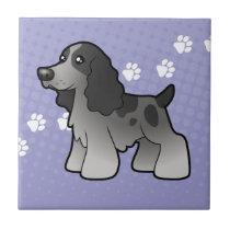 Cartoon English Cocker Spaniel Ceramic Tile