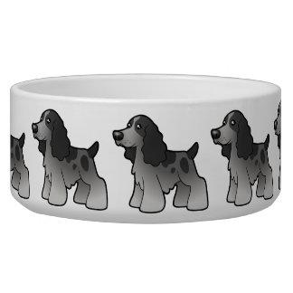 Cartoon English Cocker Spaniel Dog Food Bowl