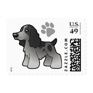 Cartoon English Cocker Spaniel Postage