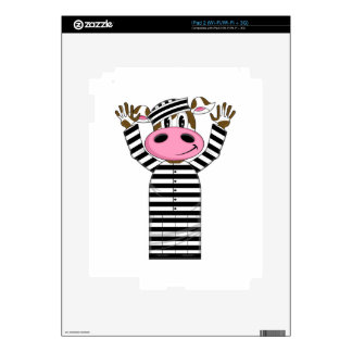 Cartoon Escaped Cow Prisoner Skin For The iPad 2