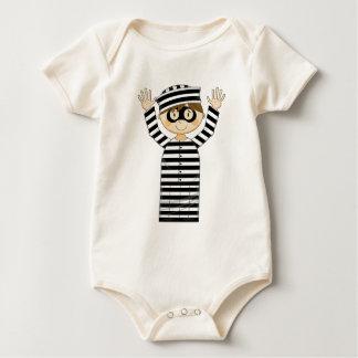 Cartoon Escaped Prisoner Baby Bodysuits