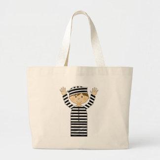 Cartoon Escaped Prisoner Tote Bag