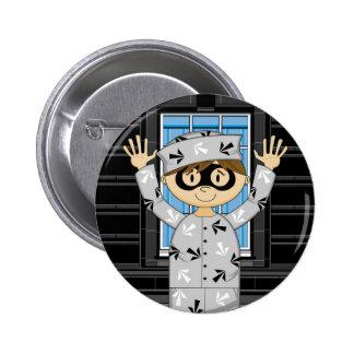 Cartoon Escaped Prisoner Button
