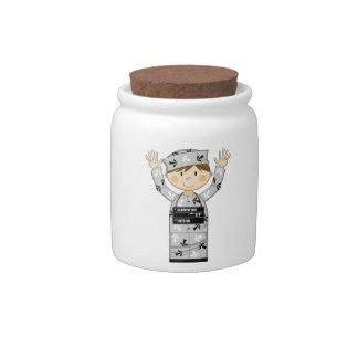 Cartoon Escaped Prisoner Candy Jar