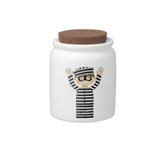 Cartoon Escaped Prisoner Candy Jars