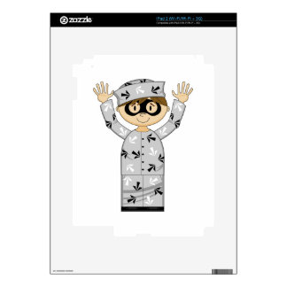 Cartoon Escaped Prisoner Decal For The iPad 2