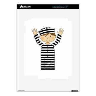 Cartoon Escaped Prisoner Decals For The iPad 2