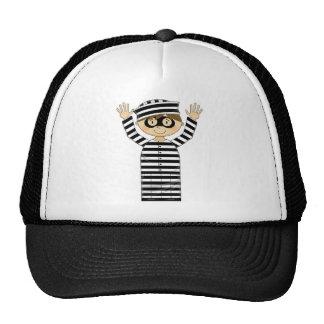 Cartoon Escaped Prisoner Trucker Hats