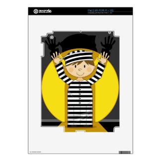 Cartoon Escaped Prisoner in Spotlight iPad 2 Skins