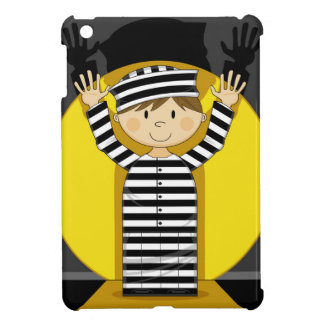 Cartoon Escaped Prisoner in Spotlight iPad Mini Covers