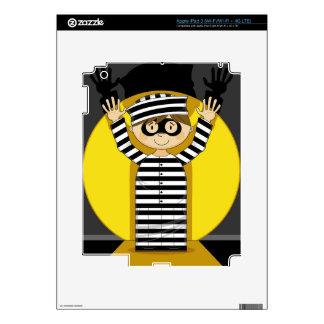 Cartoon Escaped Prisoner in Spotlight Skin For iPad 3