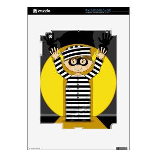 Cartoon Escaped Prisoner in Spotlight Skin For The iPad 2