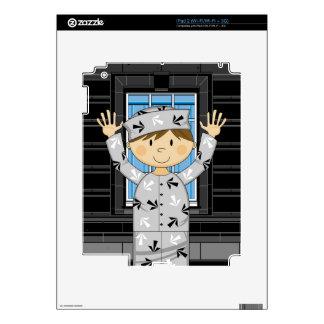 Cartoon Escaped Prisoner iPad 2 Skin