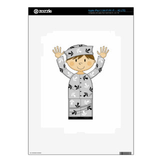 Cartoon Escaped Prisoner iPad 3 Decal