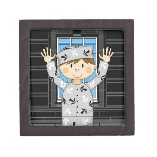 Cartoon Escaped Prisoner Jewelry Box