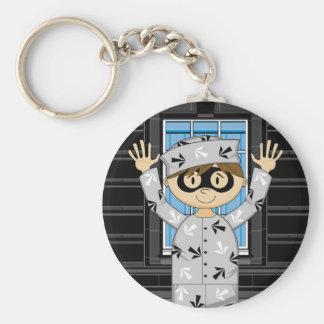 Cartoon Escaped Prisoner Keychains
