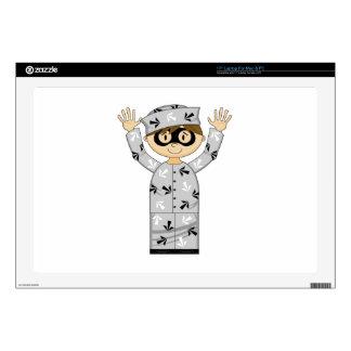 Cartoon Escaped Prisoner Laptop Skin