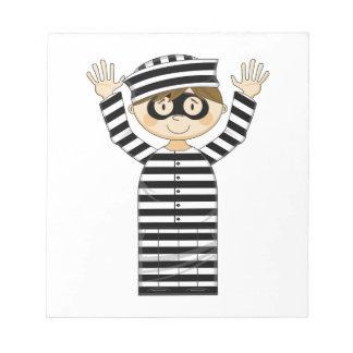Cartoon Escaped Prisoner Notepad